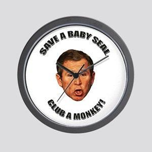 Club a Monkey! Wall Clock