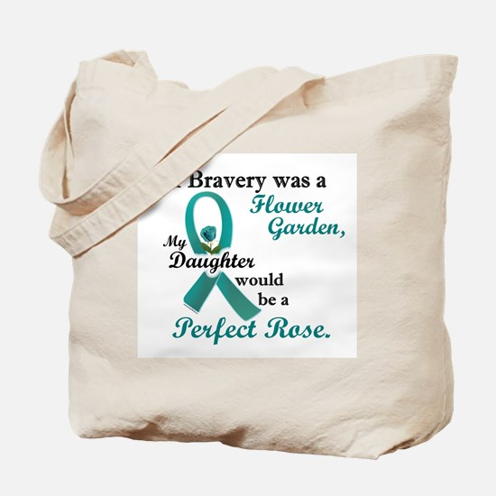 Flower Garden 1 Teal (Daughter) Tote Bag