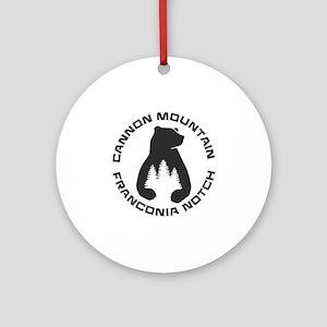 Cannon Mountain - Franconia Notch Round Ornament