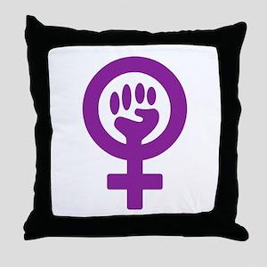 Femifist Throw Pillow