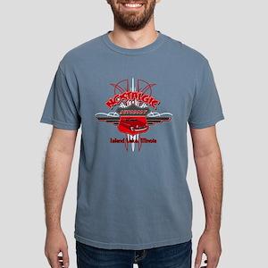 50's Merc Pinstiped Rocker Tee Shirt (red logo) T-
