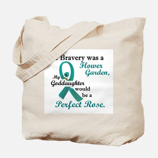 Flower Garden 1 Teal (Goddaughter) Tote Bag