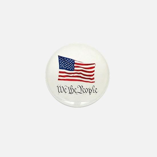 W.T.P. W/Flag Mini Button