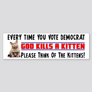 """""""Please Think Of The Kittens"""" Sticker"""
