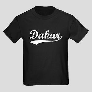 Vintage Dakar (Silver) Kids Dark T-Shirt