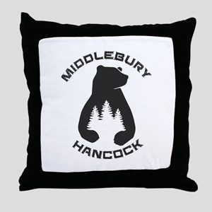 Middlebury College Snow Bowl - Hanc Throw Pillow