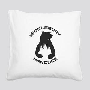 Middlebury College Snow Bowl Square Canvas Pillow