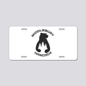 Middlebury College Snow Bow Aluminum License Plate