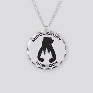 Middlebury College Snow Bowl Necklace Circle Charm