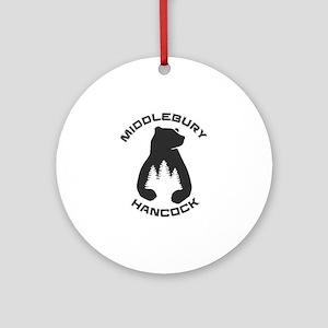 Middlebury College Snow Bowl - Ha Round Ornament