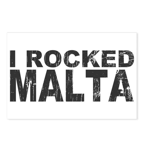 I Rocked Malta Postcards (Package of 8)