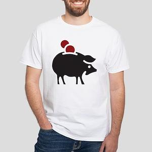 Piggy Bank White T-Shirt