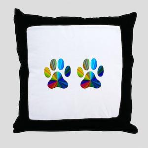 2 paws Throw Pillow