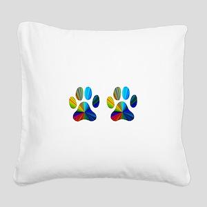 2 paws Square Canvas Pillow