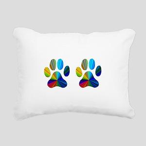 2 paws Rectangular Canvas Pillow