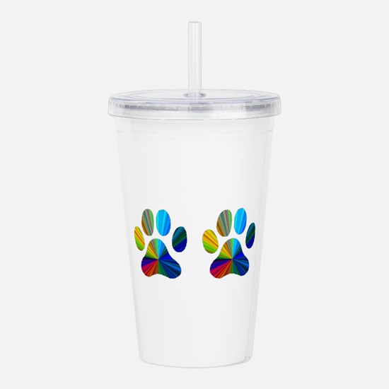 2 paws.png Acrylic Double-wall Tumbler