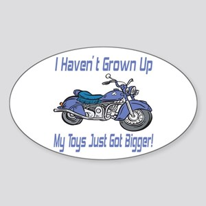 Motorcycle Toys Oval Sticker