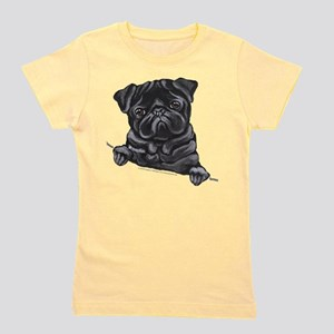 Black Pug Line Ar T-Shirt