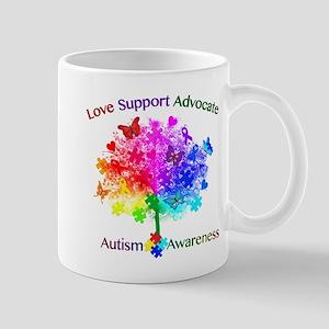 Autism Rainbow Tree 11 oz Ceramic Mug