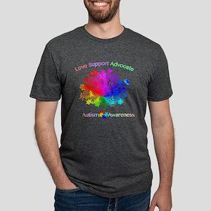 Autism Rainbow Tree Mens Tri-blend T-Shirt