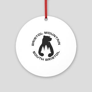 Bristol Mountain Ski Resort - Sou Round Ornament