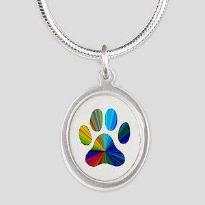 10 x 10 rainbow paw Necklaces