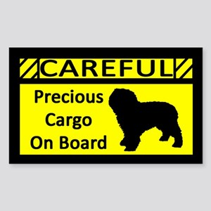 Precious Cargo Spanish Water Dog Sticker (Rect)