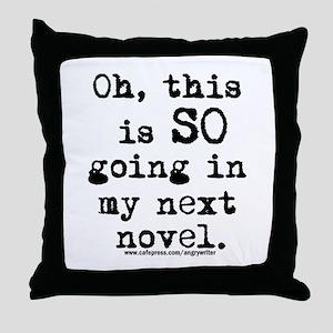 Next Novel Throw Pillow
