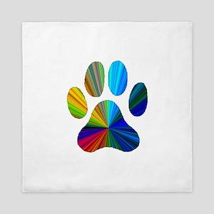 10 x 10 rainbow paw Queen Duvet