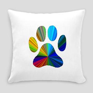 10 x 10 rainbow paw Everyday Pillow