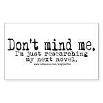 Novel Research Rectangle Sticker