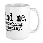 Screenplay Research Large Mug
