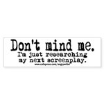 Screenplay Research Bumper Sticker (10 pk)