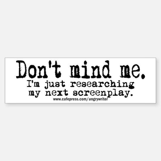 Screenplay Research Bumper Bumper Bumper Sticker