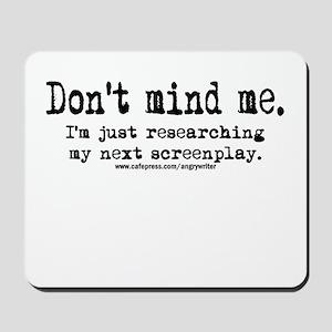 Screenplay Research Mousepad