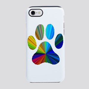 10 x 10 rainbow paw iPhone 8/7 Tough Case