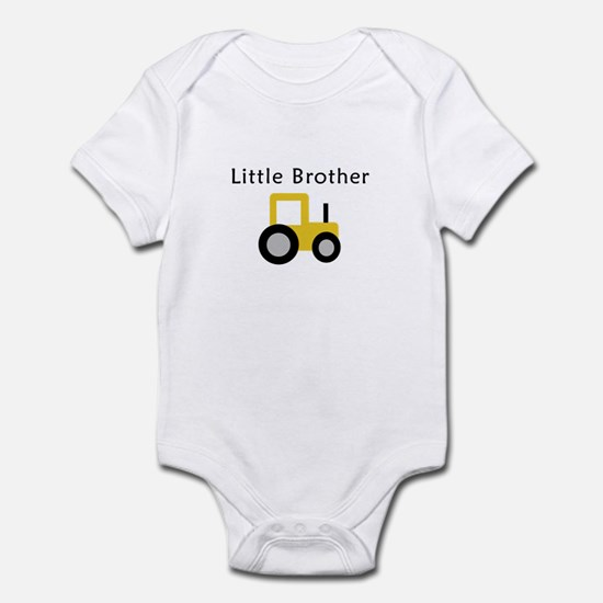 Little Brother - Gold Tractor Infant Bodysuit