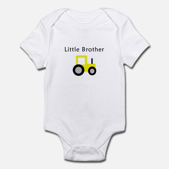 Little Brother - Yellow Tract Infant Bodysuit