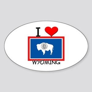 I Love Wyoming Oval Sticker