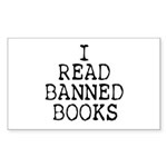 Banned Books Rectangle Sticker 10 pk)