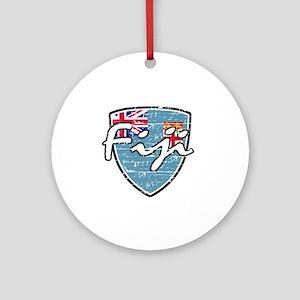 Fiji distressed flag Ornament (Round)