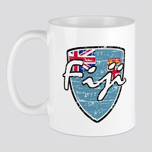 Fiji distressed flag Mug