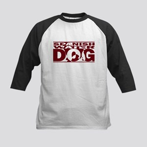 Hidden Spanish Water Dog Kids Baseball Jersey