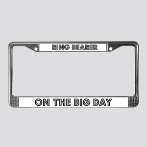 Ring Bearer on the Big Day License Plate Frame
