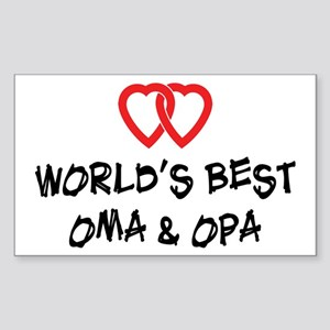 World's Best Oma and Opa Rectangle Sticker