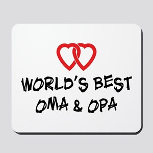 World's Best Oma and Opa Mousepad