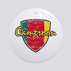 Cameroon distressed Flag Ornament (Round)