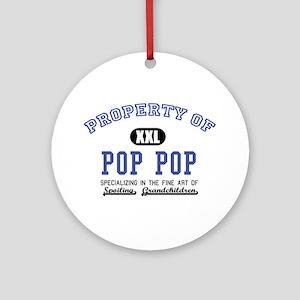 Property of Pop Pop Ornament (Round)