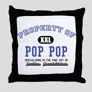 Property of Pop Pop Throw Pillow
