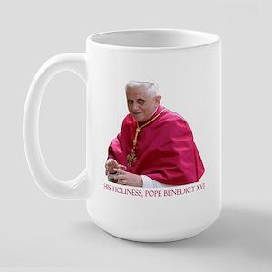 God Bless Our Pope Large Mug